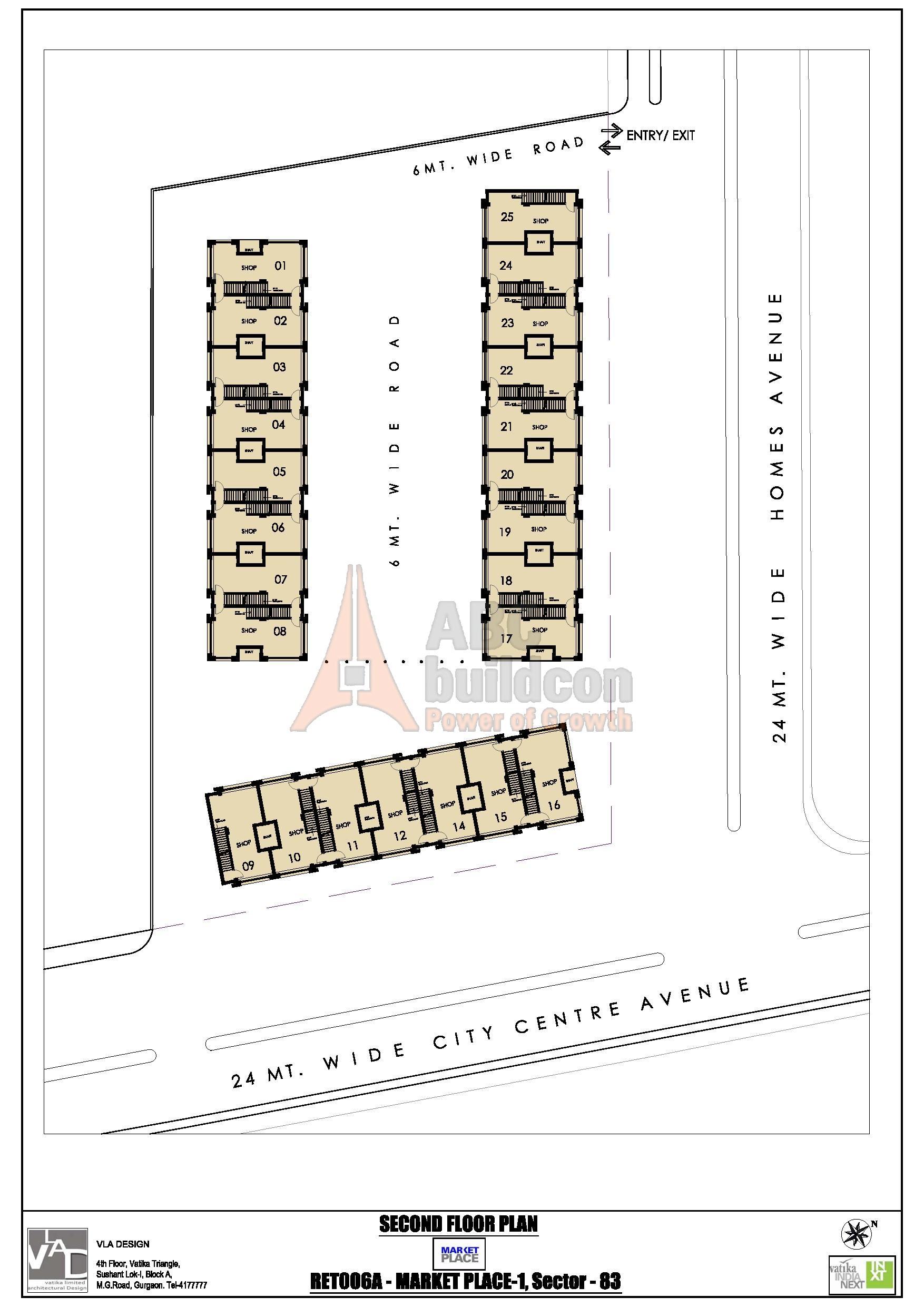 Vatika inxt market place sector 84 gurgaon for Landcraft homes floor plans