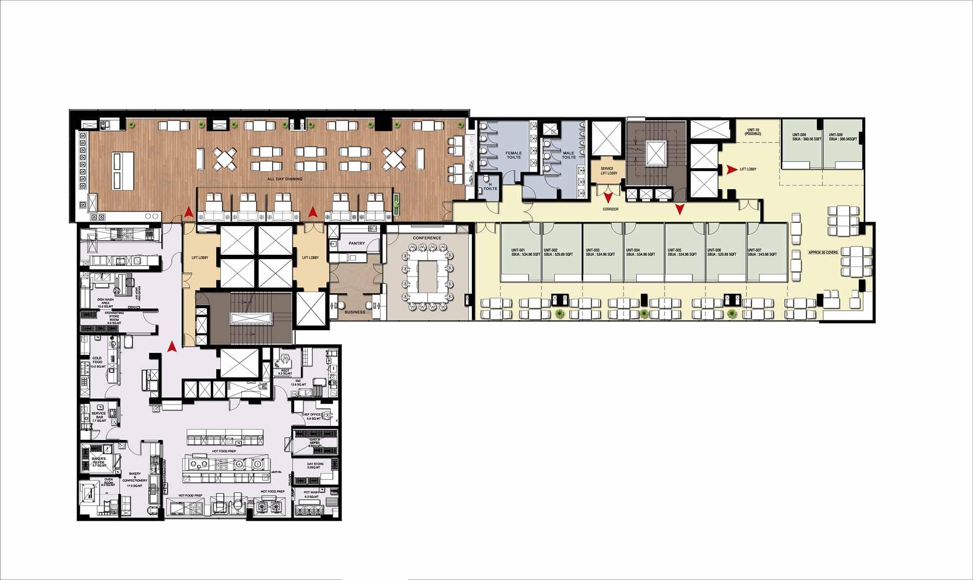 Burman gsc spectra plaza sector 82a nh8 gurgaon for Landcraft homes floor plans