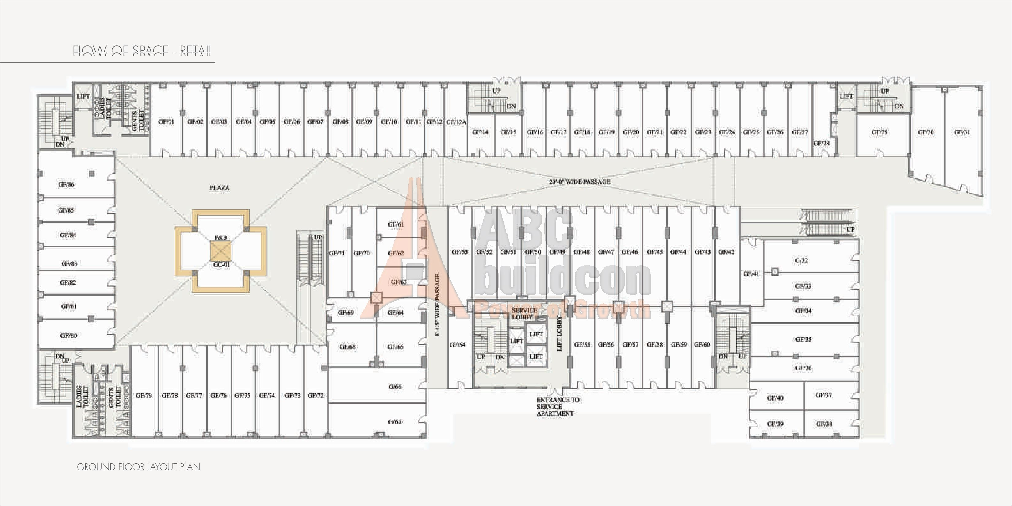Paras square sector 63 a gurgaon for Landcraft homes floor plans