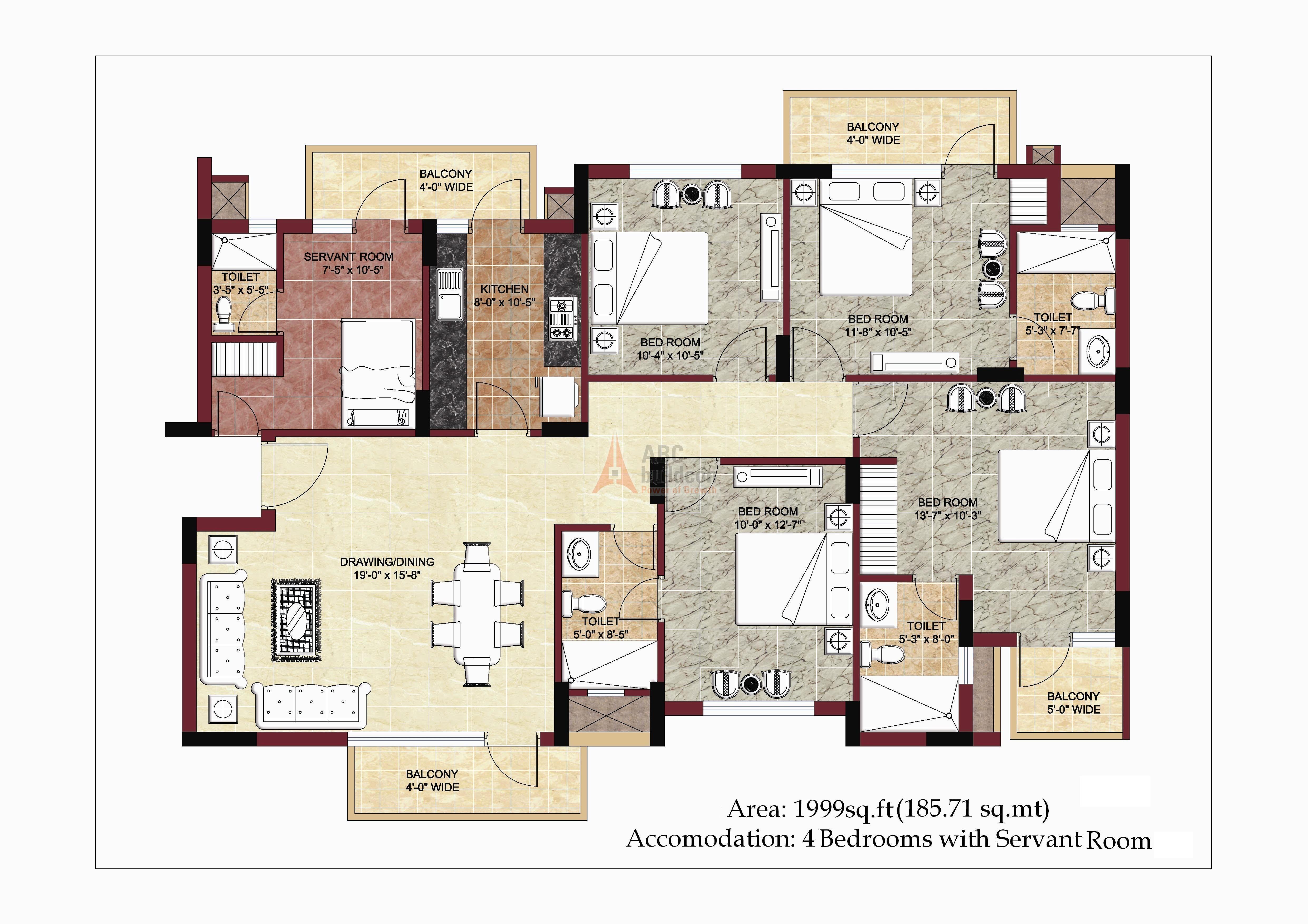 Bptp park prime sector 66 gurgaon for Landcraft homes floor plans
