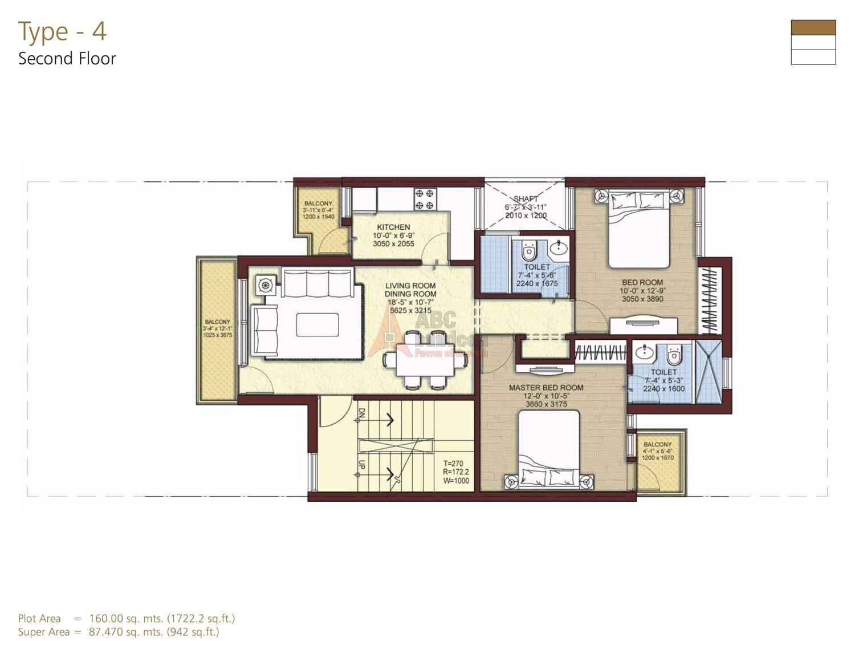 Unitech independent floors nirvana country gurgaon for Landcraft homes floor plans