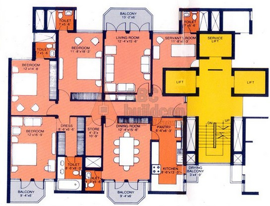 Dlf hamilton court sector 27 gurgaon for Landcraft homes floor plans