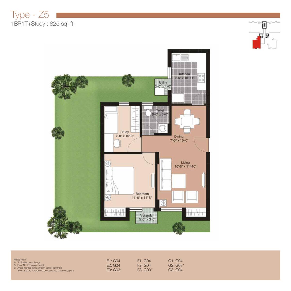 Unitech residences sector 33 sohna road gurgaon for 1 bhk flat floor plan
