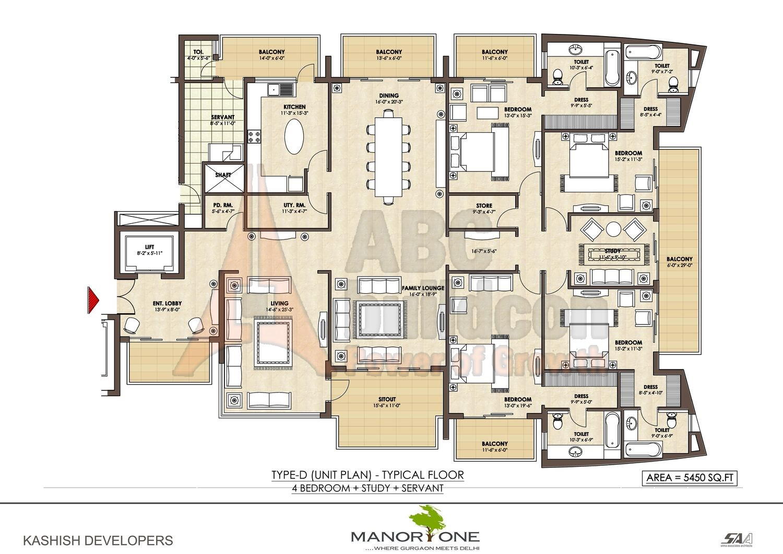 Kashish manor one sector 111 gurgaon for Landcraft homes floor plans