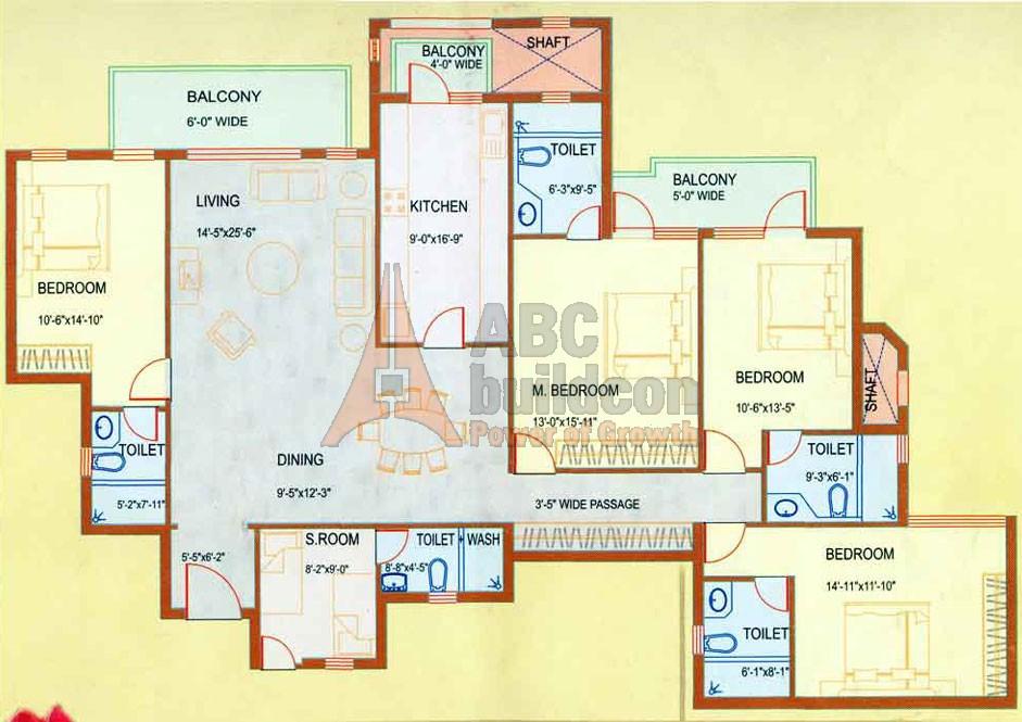 Dlf westend heights sector 53 gurgaon for Landcraft homes floor plans