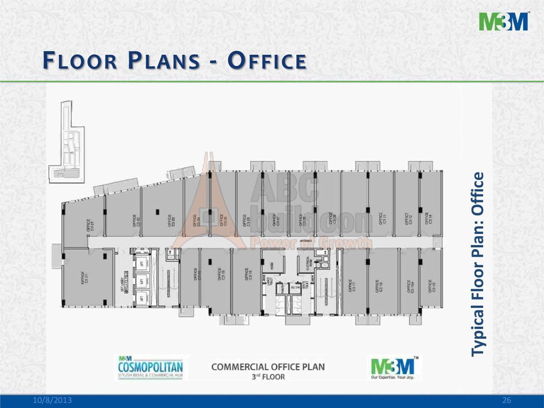 M3m cosmopolitan sector 66 gurgaon for Landcraft homes floor plans