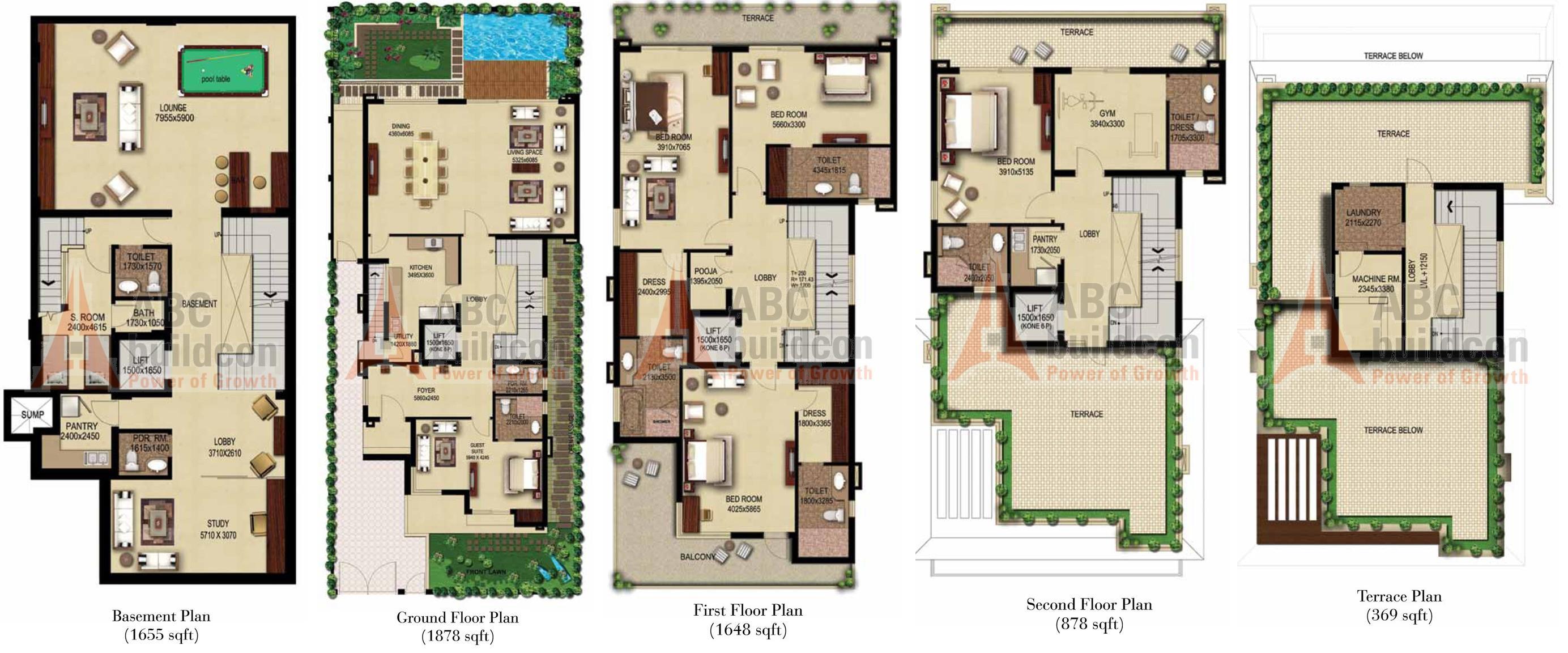 Anant raj estate villas sector 63a gurgaon for Villa floor plans india