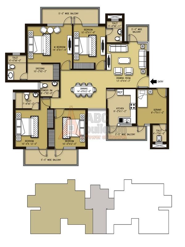 Orris aster court premier sector 85 gurgaon for Landcraft homes floor plans