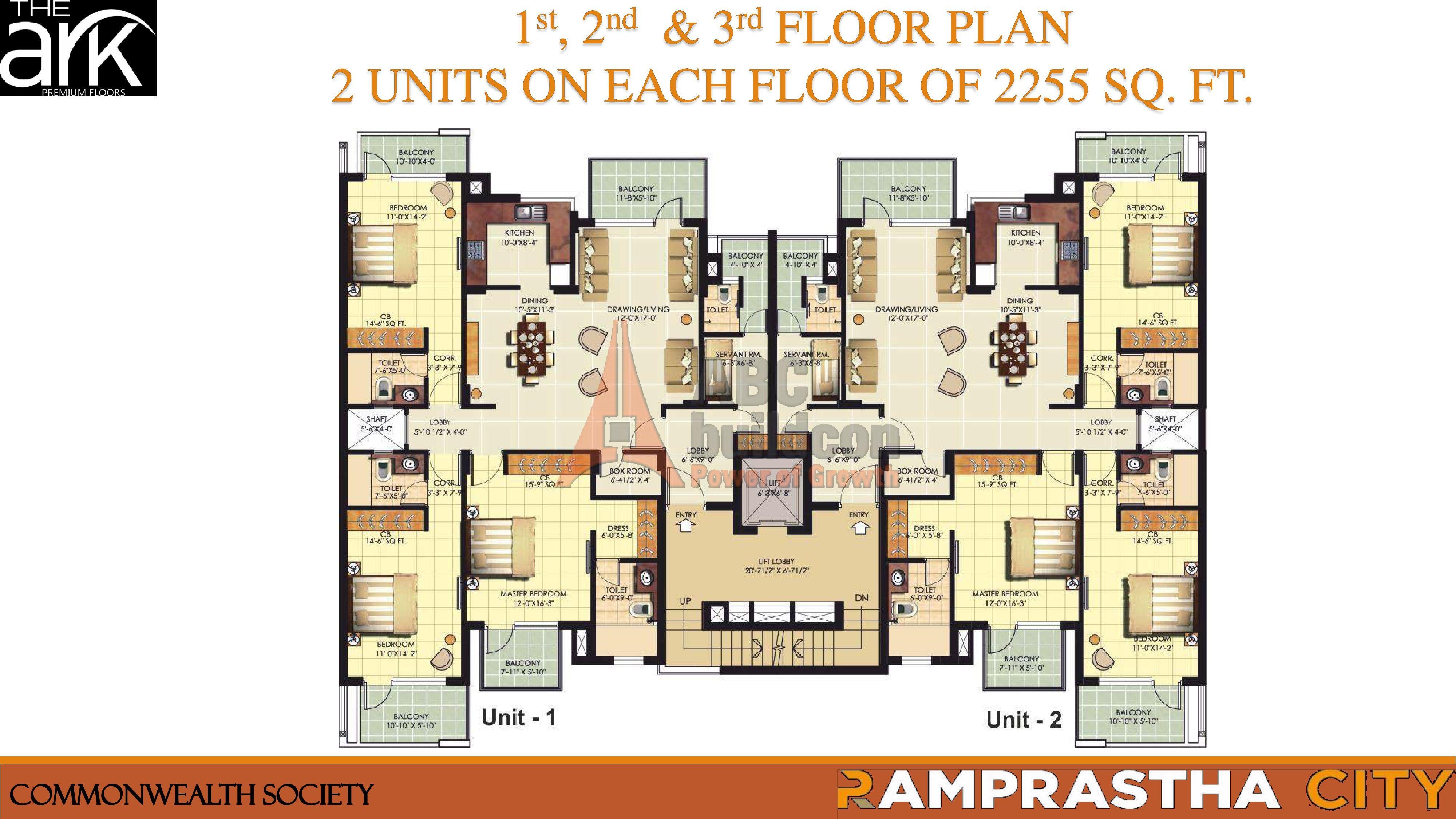 Ramprastha the ark sec 37d ramprastha city gurgaon for Landcraft homes floor plans