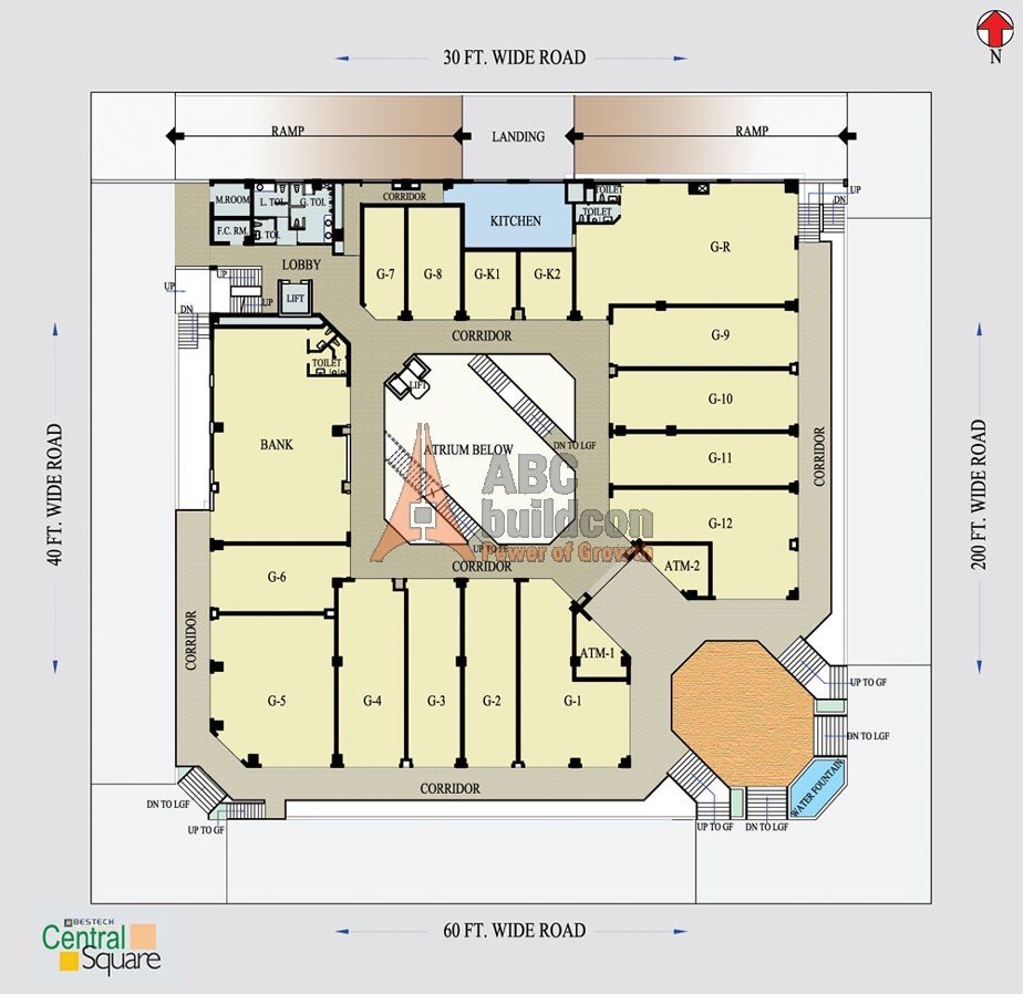 Bestech central square sector 57 gurgaon for Landcraft homes floor plans
