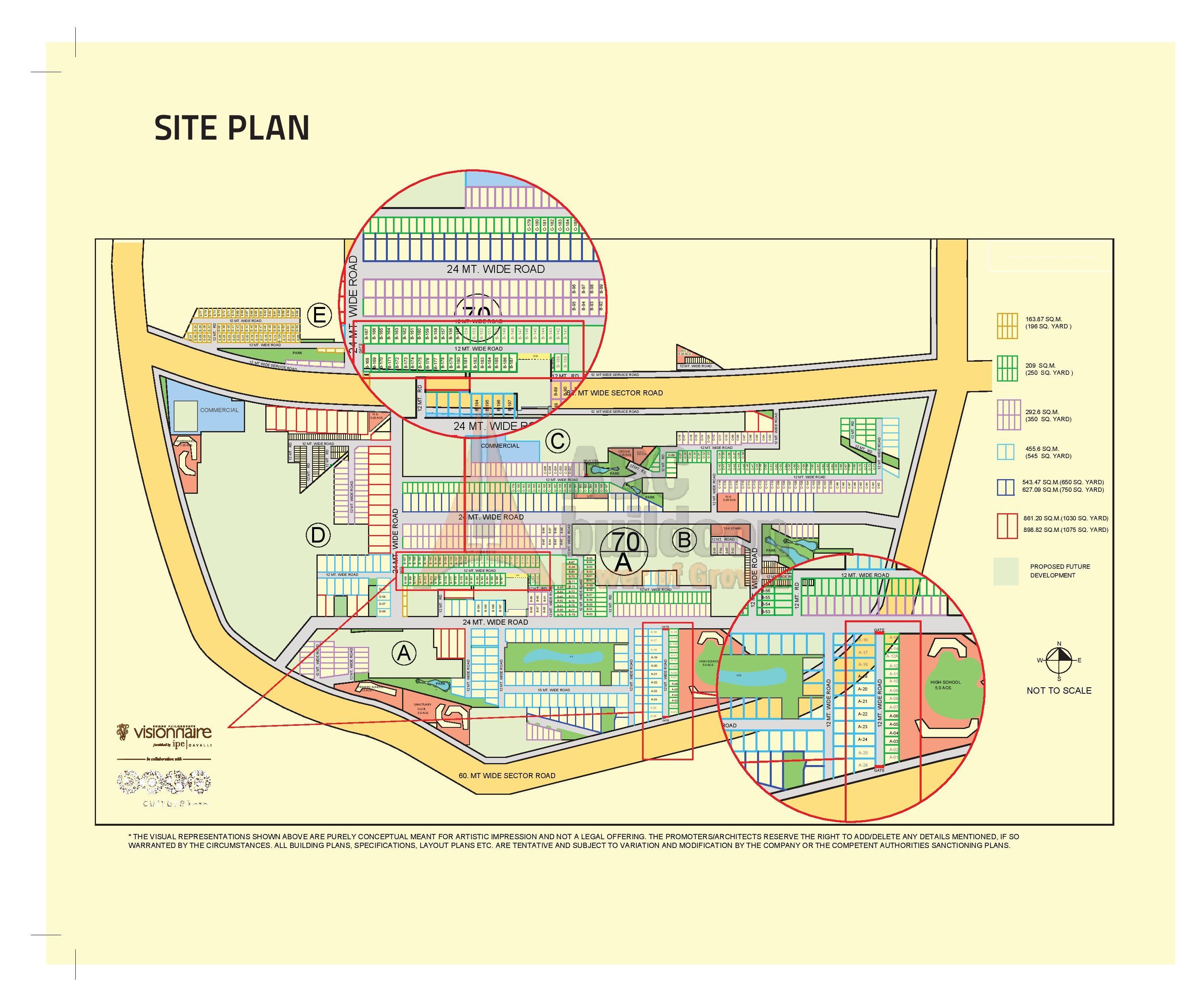 Page Map Site: BPTP Visionnaire Villas, Sector 70A, SPR, Gurgaon