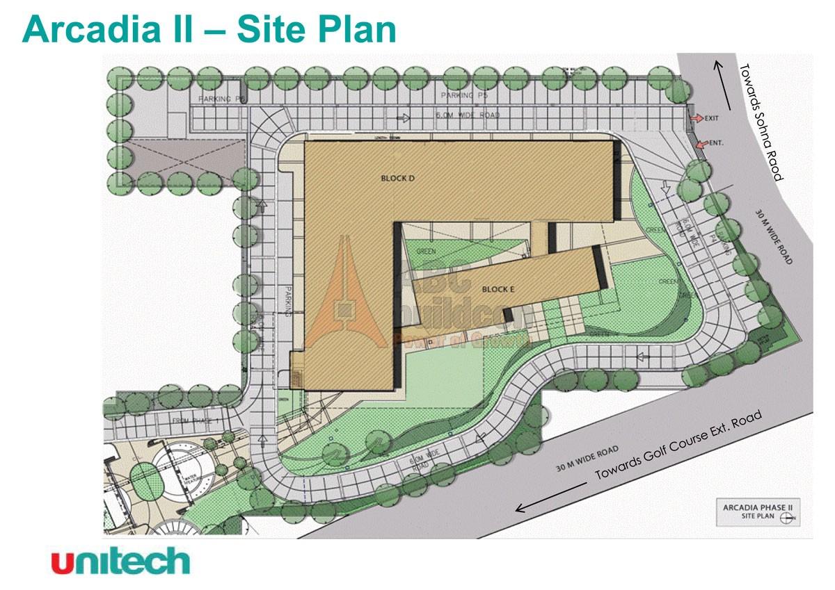 Unitech arcadia 2 sec 49 south city 2 gurgaon for Website build project plan