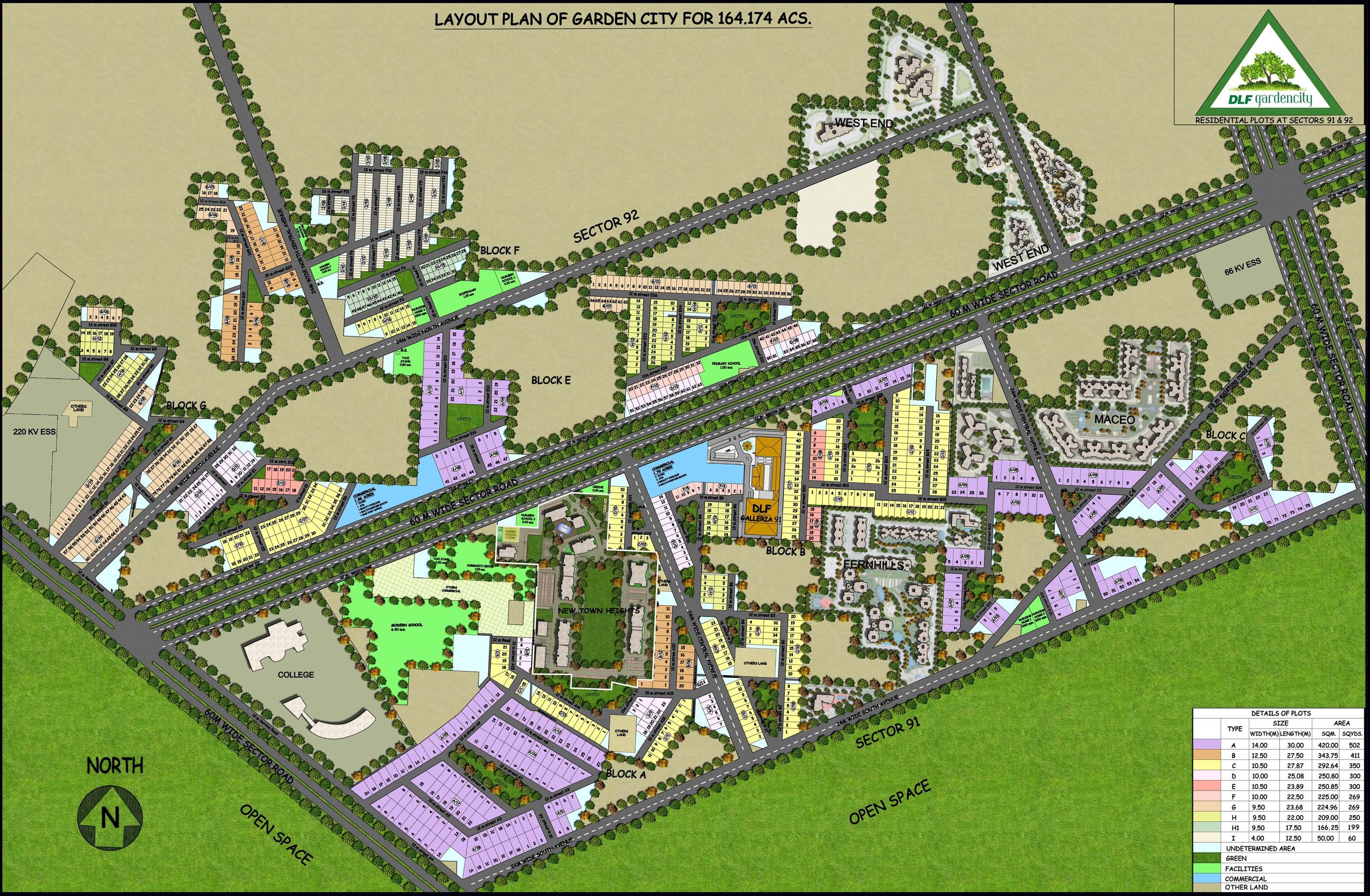 DLF Garden City Plots Gurgaon – Site Plot Plan