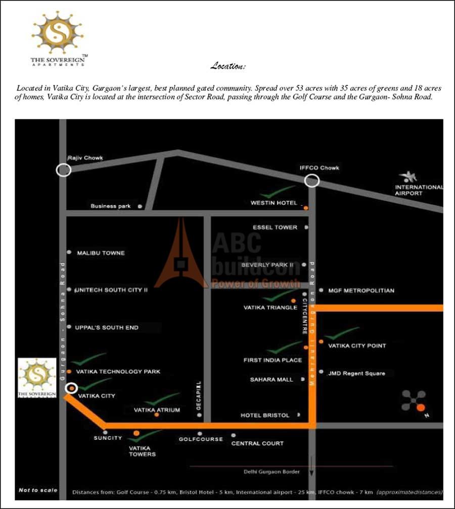Sovereign Apartments: Vatika Sovereign Apartments, Vatika City, Sohna Road, Gurgaon